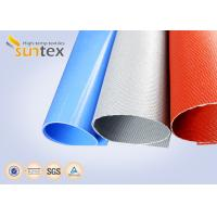 China Suntex Woven Thermal Insulation Cloth High Silica Coated With Red Silicone Rubber on sale