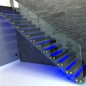Modern Glass Folding Stairs / Build Floating Staircase