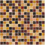 linha telha do ouro de 20X20mm de mosaico de vidro do quadrado do teste padrão da mistura do mosaico