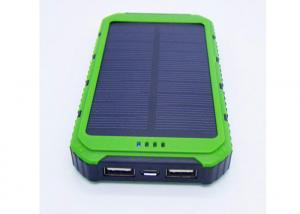 China 8000mah Portable Solar Power Bank , Waterproof Portable Charger For Mobile Phone on sale