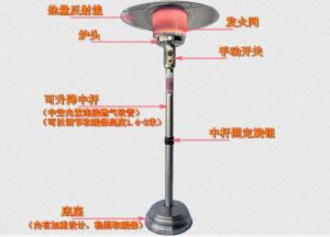 China Outside Heating Round Stainless Steel Patio Heater Waterproof Fashion Design on sale