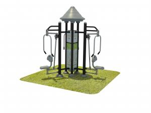 China HDPE Plastic Exercise Playground Equipment , Outdoor Park Gym Equipment on sale
