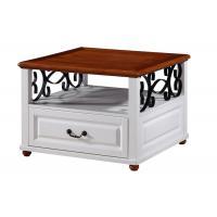 Arabic Stylish Coffee and  End Table Furniture Metal Frame / PVC Veneer