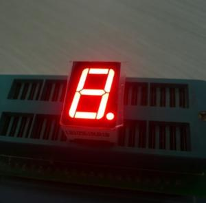 China Ultra red 14.2mm Single Digit 7 Segment Led Display common anode For Digital Indicator on sale