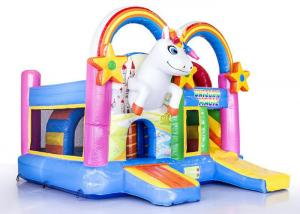 China 0.55mm PVC Inflatable Unicorn Party Inflatable Bouncer Jumper Combo on sale