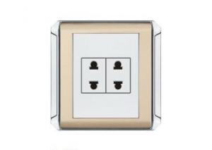China 10A 250V 2Gang / 3Gang / 4Gang Electric Wall Socket light wall Switches OEM Service on sale