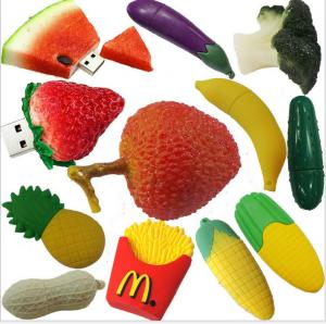 China customized Fruit and food design USB Flashdrives,2-32GB Soft PVC fruit shaped usb flash drive gift on sale