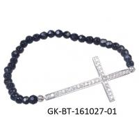 OEM / ODM custom 925 sterling silver jewellery , cz cross bracelet with high quality guarantee