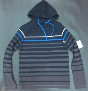 China Spring Mens Wool Sweaters Shirt Knitted Striped Pullover With Hood on sale