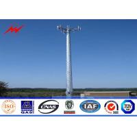 Steel 100ft Mono Pole Mobile Cell Phone Tower / Tapered / Flanged Steel Poles