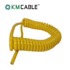 China Spring Coiled Electrical Cable , Retractable Coiled Electrical Cable on sale