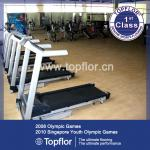Noise reduction commercial gym rubber roll mat