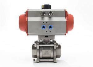 China Encapsulated Sanitary Electric Actuated Ball Valve With 3 Piece , Field Serviceable on sale