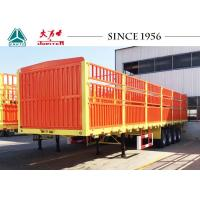 40FT 4 Axles Fence Trialer, High Side Wall Cargo Trailer For Sale West Africa