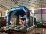 Wide Inflatable Car Wash Themed Jump House Inflatable Children Bounce With Slide