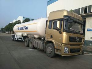 China 40 Cbm Tanker Truck Trailer 20 Tons Liquefied Petroleum Tanker Trailer on sale
