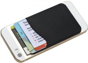 China PMS Color Silicone ID Card Holder , Adhesive Credit Card Holder Restickable on sale