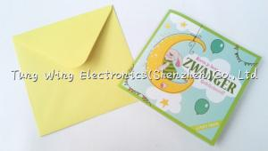 China Fashionable musical birthday greeting cards , song greeting cards on sale