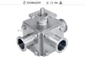 China T / L type Manual  Sanitary Ball Valve with  plastic handle on sale