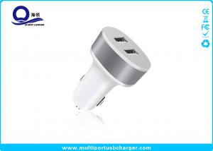China 5V 2.1A Dual USB Car Charger , Samsung mobile phone car chargers Fast speed on sale