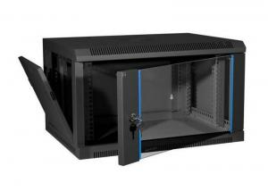 China Wall Mount Cable Cabinet , 19 Inch Rack Cable Management , 18U Cabinet on sale