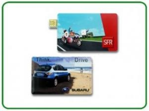 China USB Version 2.0 USB-HDD 128GB Credit Card USB Stick With Customised Logo  on sale