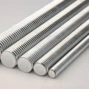 China threaded rods made of stainless steel or carbon steel on sale