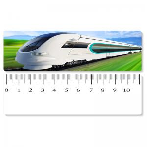 China 5.4x31cm High - Speed Train 3D Lenticular Ruler PET Material For Student Stationery on sale