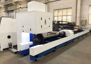 China 1000W Tube CNC Pipe Cutting Machine With Raycus IPG Fiber Laser Power Water Cooling on sale