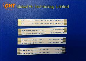 China 8 Pin FPC Flexible Printed Circuit Cable , FFC Flat Cable Pitch 1.0mm Low Voltage on sale