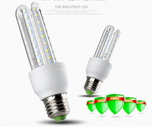 China 4U LED Energy Saving Lights CFL replacement of lamps AC85-265V U shaped clear glass cover on sale