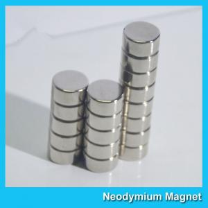 China N35 8 X 3mm Round Ndfeb Disc Magnet / Strong Disk Magnets For Souvenir on sale