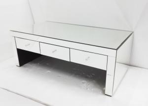 Three Drawers Mirrored Coffee Table 120 60 45cm