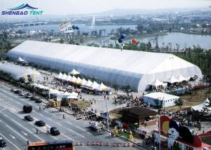 China Movable PVC Aluminum Expo TFS Curved Tent 40m Clear Span for Large Outdoor Promotion on sale