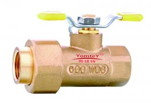 China YomteY Brass Shut-off Ball Valve With Union on sale
