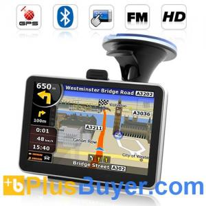 "China Road Nav - 4.5"" Touchscreen GPS Navigator with FM Transmitter, Bluetooth on sale"