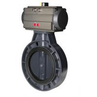 complete SS316 wafer connection pneumatic butterfly valve with actuator