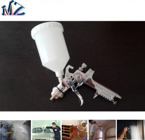 China Chrome peignant le pistolet de pulvérisation en plastique d'air de la gravité HVLP H827 de tasse de grande taille de bec on sale