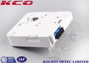 China 1 Port SC Duplex Fiber Optic Termination Box Wallmount Socket 2 Cores FTTH FTTB on sale