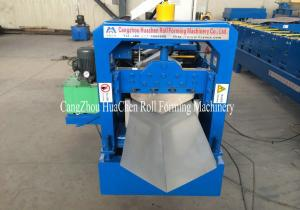 China 7.5Kw Ridge Cap Roll Forming Machine 0.3mm - 0.7mm for Steel Prefab House on sale