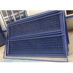 Загородка конструкции *9га/3.60мм  *4  инфилл меш2 сварки Х6'/1830мм*В9.5'/2900мм временная обшивает панелями синь покрытую порошком