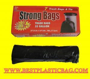 China custom t shirt printing plastic trash bag black carrier t-shirt bag on sale