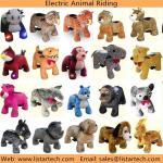 O animal monta, os carros para crianças à movimentação, carros das crianças para brinquedos bondes dos animais das crianças