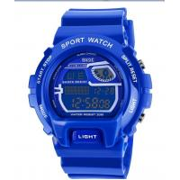 China Blue Casio Style Sports Wrist Watch Multi-functional Chronograph Date Day Waterproof on sale