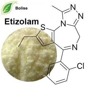 China Pharmaceutical API Raw Materials Etizolam 40054-69-1 C17H15ClN4S on sale