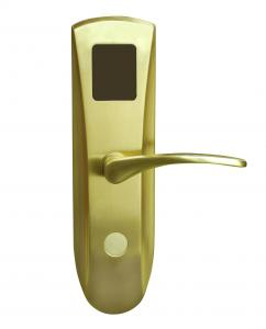 China Brushed Nickel Digital Electronic Card Lock / Electronics Door Lock For Hotel Room on sale