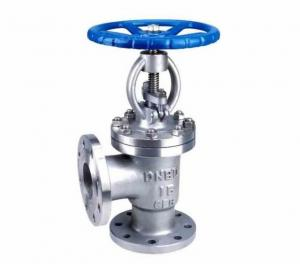 China Hand Wheel Manual Flanged DIN Globe Valve Angle Type For Shipboard / Steam on sale