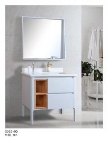 China Vintage White Solid Wood Bathroom Vanity , Solid Cherry Bathroom Vanity on sale