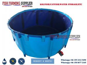 China Foldable PVC Material Frame Fish Ponds Water Storage Tank on sale
