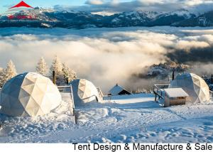 China Heavy Duty 2.9m Height Winter Dome Tent For Outdoor Activity on sale